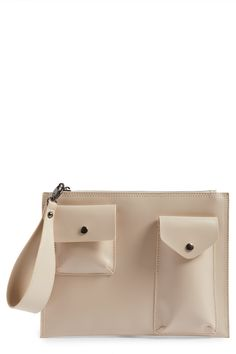 BP. - Pocket Front Faux Leather Clutch. Free Shipping on orders over $100.