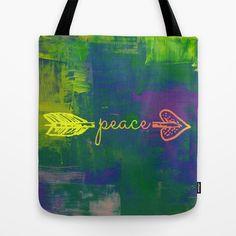 Peace Arrow Tote Bag #freeshipping #peace #tote #endlesssummer #society6