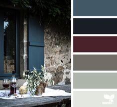 Risultati immagini per design seeds color Colour Pallette, Colour Schemes, Color Combos, Burgundy Colour Palette, Paint Combinations, Room Colors, House Colors, Paint Colors, Colours