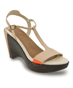 This Tan Glamour Leather Wedge Sandal by Jambu is perfect! #zulilyfinds