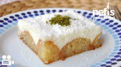 Ramazan için bu tarifi not etmeyi unutmayın :) Muhallebili Kemalpaşa Tatlısı Desserts To Make, Homemade Desserts, Turkish Sweets, Thai Dessert, Iftar, Turkish Recipes, Cheesecake, Food And Drink, Yummy Food