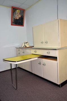 50er 60er J. Küchenzeile auszieh Tisch Frankfurter Küche Buffet Rockabilly Mid C