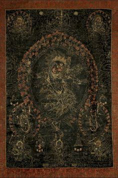 Simhamukha :Jnana Dakini Simhamukha. Meditation deity (yidam) wrathful & female. Despite exceedingly wrathful appearance & animal head, she's not a guardian spirit, subdued by magic, converted to the Dharma, or bound by oaths of service. Rather, a wrathful manifestation of Guhyajnana Dakini  (principal teacher of Padmasambhava, Nyingmapa trad.). Although Simhamukha is Dakini in aspect, functions as yidam/meditation deity. Special functions: averting & repulsing psychic attacks on…