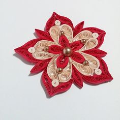 Starburst Flower Paper Quilling by PaperVanilla on Etsy