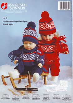 Album Archive - Gjerstal no 148 Knitting Dolls Clothes, Crochet Doll Clothes, Knitted Dolls, Ag Dolls, Barbie Dolls, Baby Born Clothes, Knit Crochet, Crochet Hats, Jouer