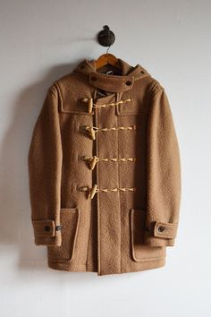 "vintage 1980s / ""Gloverall"" duffle coat / made in England / British tradition / chestsnuts brown / mens M"