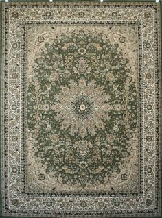 Sage Green Traditional Isfahan Wool Persian Area Rugs 13x16 Feraghan/New  City Http:/