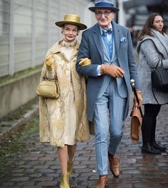 Just love this couple #repost from . Couple goals - Image by #joannatotolici via #voguerunway . . . . #ootd #wiw #outfitoftheday #whatimwearing #50plus #fashionoverfifty #iwillwearwhatilike #ageisjustanumber #styleover60 #advancedstyle #wearitloveit #fashionforward #womenwithstyle #fashionableadults #grownupclothes #youandyourwedding