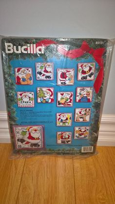 Bucilla Jolly Santa Counted Cross Stitch Set of 12 Ornaments 83131 Christmas Fun | eBay