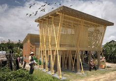 Building Trust International Release Results of Competition for Sustainable Low-Income Housing for Cambodia Inhabitat - Sustainable Design Innovation, Eco Architecture, Green Building Bamboo Architecture, Tropical Architecture, Sustainable Architecture, Sustainable Design, Sustainable Energy, Bamboo Building, Natural Building, Green Building, Bamboo Roof