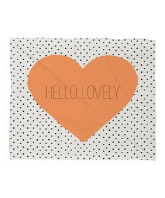 'Hello Lovely' Fleece Throw Blanket