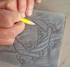 sgraffito tips http://www.lakesidepottery.com  LOTS of great ceramcis tips and tricks here.