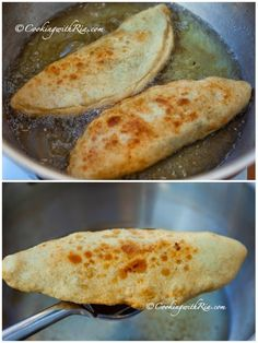 Aloo pie is fried dough filled with savory mashed potatoes that's seasoned simply with bandhania (culantro), cumin, onion and garlic. Trinidadian Recipes, Guyanese Recipes, Jamaican Recipes, Carribean Food, Caribbean Recipes, Caribbean Drinks, Caribbean Carnival, Indian Food Recipes, Vegan Recipes