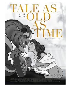 "Alex Pick ( 🥀""Tale as old as Time. Beauty and the Beast. New Disney Remake Movie Poster😘 . Walt Disney Pixar, Disney Nerd, Disney Memes, Disney Films, Disney Fan Art, Disney Stuff, Cartoon Network Adventure Time, Adventure Time Anime, Pulp Fiction"