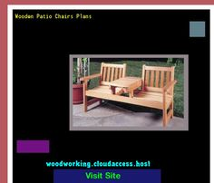 Wooden Patio Chairs Plans 222047 - Woodworking Plans and Projects!