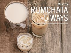 5 ways to serve RumChata If you haven't tried RumChata, you're missing out. This creamy liqueur is made from a mix of premium Caribbean rum and the finest dairy cream from Wisconsin, finished off with. Mixed Drinks, Fun Drinks, Yummy Drinks, Alcoholic Drinks, Beverages, Liquor Drinks, Rumchata Cocktails, Rumchata Recipes, Vodka Recipes