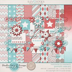 Add on to the Memories & Moments digital scrapbooking collection with this patriotic expansion pack. Great for 4th of July and other patriotic layouts. Red White & Blue! $3.19 See layouts created with this kit and buy here: http://shop.scrapbookgraphics.com/Memories-Moments-Patriotic-Add-on-Digital-Scrapbook-Mini-Kit.html