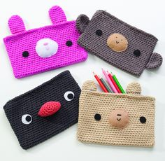 Amigurumi on the Go: 30 Patterns for Crocheting Kids' Bags, Backpacks and More pencil cases | Flickr - Photo Sharing!