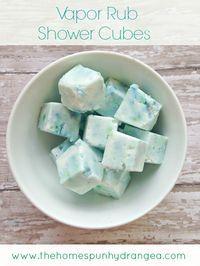 Vapor Rub Shower Cubes using petroleum-free vapor rub