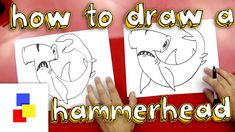 How to draw a hammerhead, just in time for shark week!