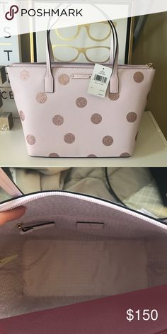 64b803e126fe Kate Spade Purse brand new with tags! Brand new! Pink with glitter polka  dots