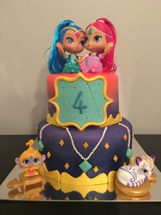 Shimmer and Shine cake by Cheeky Cakes