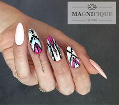 Aztec nails. Sieh dir dieses Instagram-Foto von @magnifique_studio_nails an • Gefällt 3 Mal