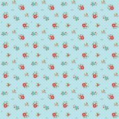 Riley Blake Designs The Simple Life Simple Floral Aqua by Tasha Noel