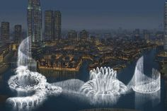 The most amazing water fountains of Dubai