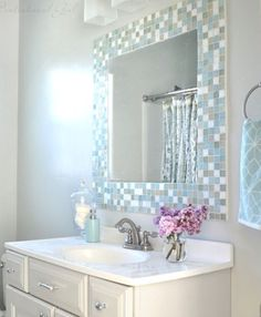 Pastel bathroom tiles
