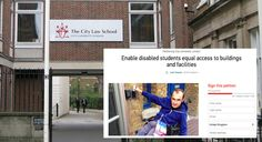 500 students sign petition urging City Uni Law School to meet disability access promise
