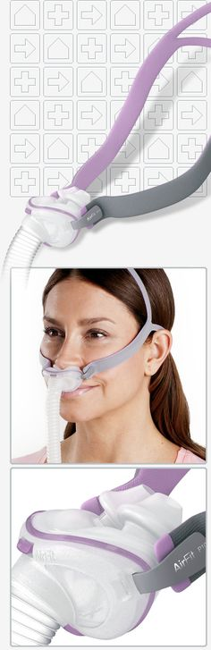 AirFit™ P10 For Her Nasal Pillows CPAP Mask with HeadgearBest Sleep I've Had Written By: Steven G, Loganville I just received the P10 and after one night's sleep I've fallen in love. It's quiet, light, and allows for multiple sleeping positions . . . even with normal pillows. The only reservation I have is the non-adjustable headgear. With that said, it's not a deal beaker. If you are wanting a nasal pillow style device, I recommend this one.