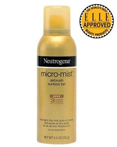 """The """"lightning-speed""""  Neutrogena Micro-Mist Airbrush Sunless Tan """"hides any skin imperfections."""""""