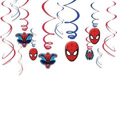 Ultimate Spider-Man Foil Swirl Decorations | 12 ct