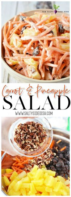 Carrot Salad with Raisins and Pineapple