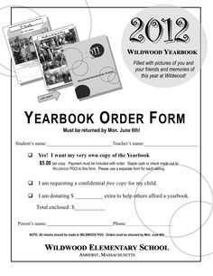Yearbook Order Form.jpg (1275×1650) | Yearbook Classroom | Pinterest