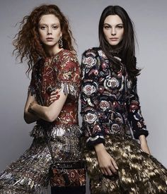 Natalie Westling & Vittoria Ceretti by Karl Lagerfeld for Chanel Pre-Fall 2017