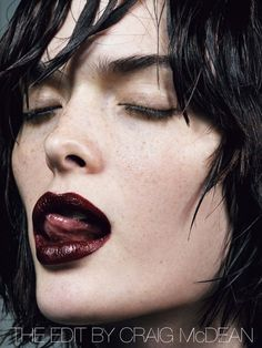 thebeautymodel: Sam Rollinson by Craig McDean for Vogue Italia September 2013 Beauty Make Up, Hair Beauty, Edit Makeup, Burgundy Lips, Craig Mcdean, Goth Makeup, Dark Lips, Beauty Shoot, Beauty Editorial