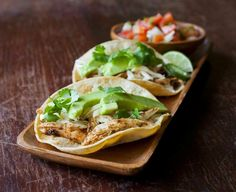 Roasted Chicken Tacos with Manchego and Avocado