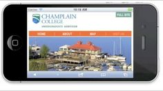 Admission Site Built for Mobile. Thank you to Champlain College. --  Mongoose Research, Inc