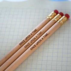 once upon a time 3 pencils in natural wood... How does your story begin?
