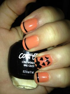 Halloween nails :) by elena  | See more nail designs at http://www.nailsss.com/french-nails/2/