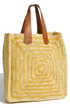 Mar+y+Sol+'Panama'+Stripe+Straw+Tote+available+at+#Nordstrom