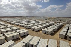 The new Mrigeb al-Fuhud refugee camp, 20 kilometers east of the city of the Jordanian city of Zarqa, as Jordan opened a second camp for Syrian refugees after the United Nations said the number seeking shelter in the kingdom is expected to triple by the end of the year, on April 10, 2013. The seven-million-dinar ($9.8-million) camp, which was paid for by the United Arab Emirates, has 750 caravans, a hospital and a school and can take up to 5,500 people.