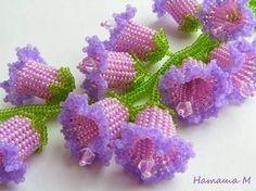 Kafijas krūze: Fantastiski darbi no pērlītēm (Bead Crafts ) Seed Bead Flowers, French Beaded Flowers, Crochet Flowers, Beading Projects, Beading Tutorials, Beading Patterns, Seed Bead Jewelry, Bead Jewellery, Beaded Jewelry