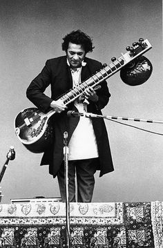 Ravi Shankar & Sitar. Monterey Pop Festival, California, 1967.