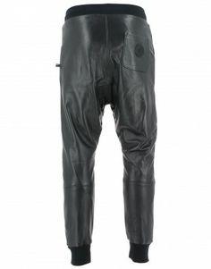 Jogging Cuir Sweet Pants Loose Homme