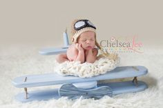 Adorable Photo Prop ~ Precious baby blue wooden airplane  by RockinRphotoprops on Etsy, $158.00