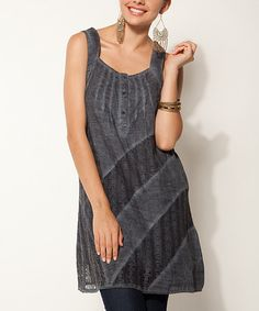 Take a look at this Indigo Stripe Linen Shift Dress by Sand Studio on #zulily today!