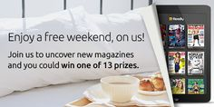 This weekend, enjoy a FREE weekend of unlimited reading! Plus, you could win one of 13 prizes! #readly #reading #magazines | Readly.com